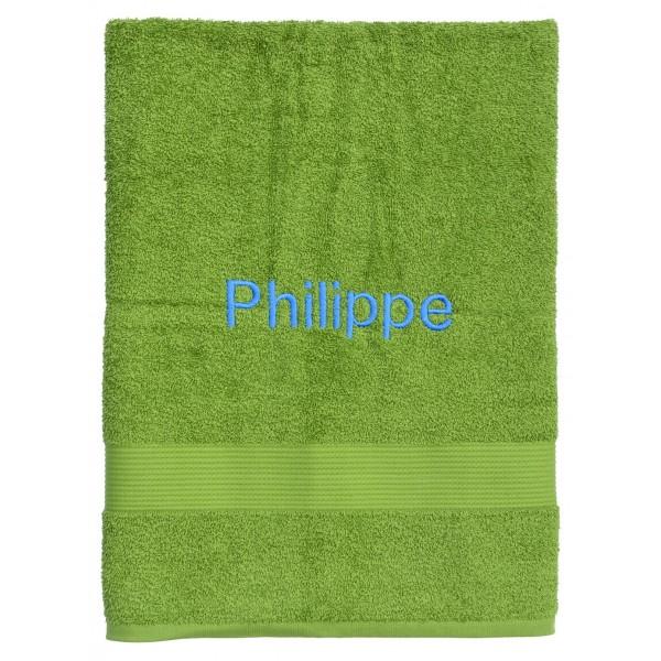 Handdoek met naam - Badhanddoek Fairtrade groen