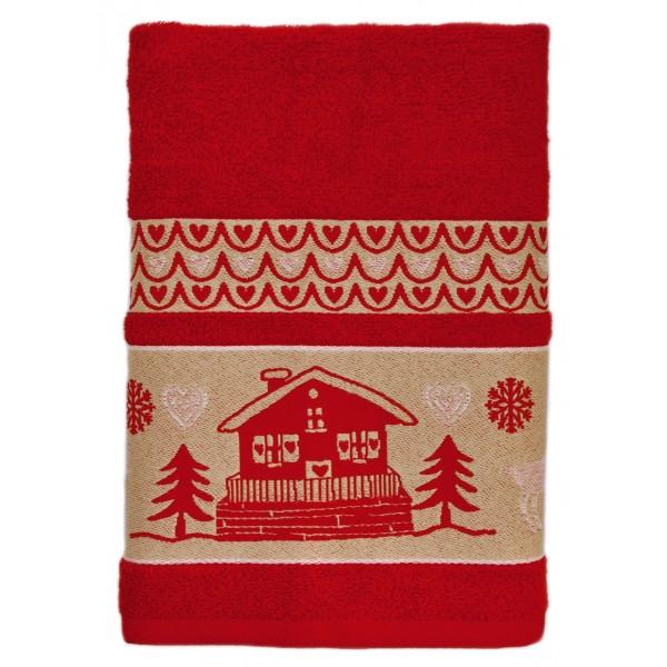 Handdoek met naam - Chaletmotief