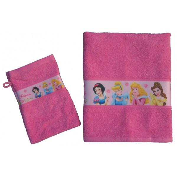 Handdoek met naam - Disney Princess