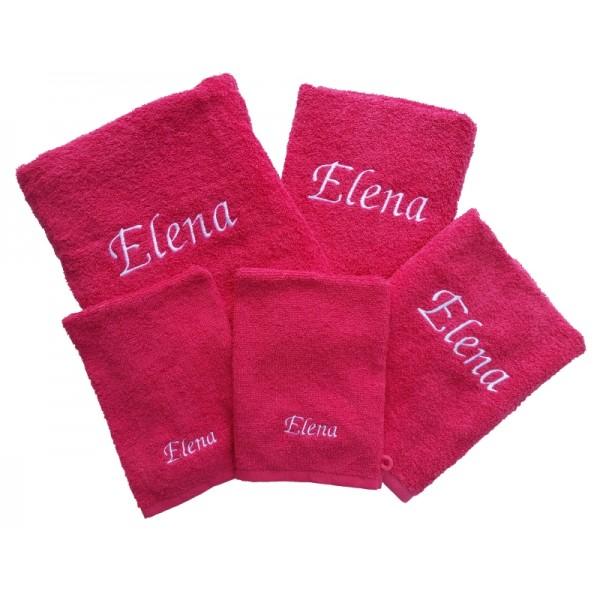 Handdoek met naam - Vijfdelige set