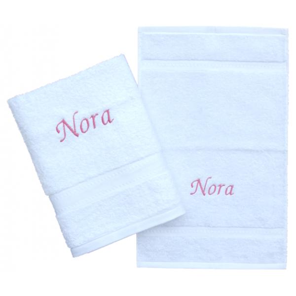 Handdoek met naam - 2-delige handdoekenset Jules Clarysse Talis