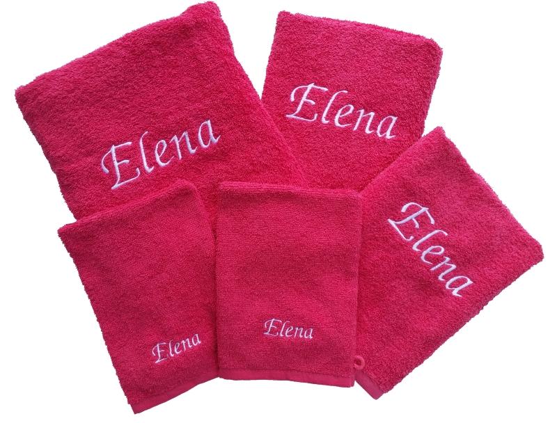 Handdoekenset met naam geborduurd